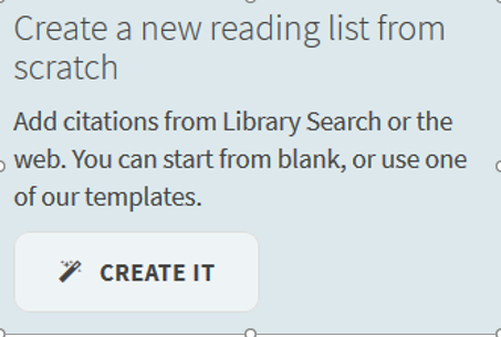 An image detailing how to create a new reading list from scratch.