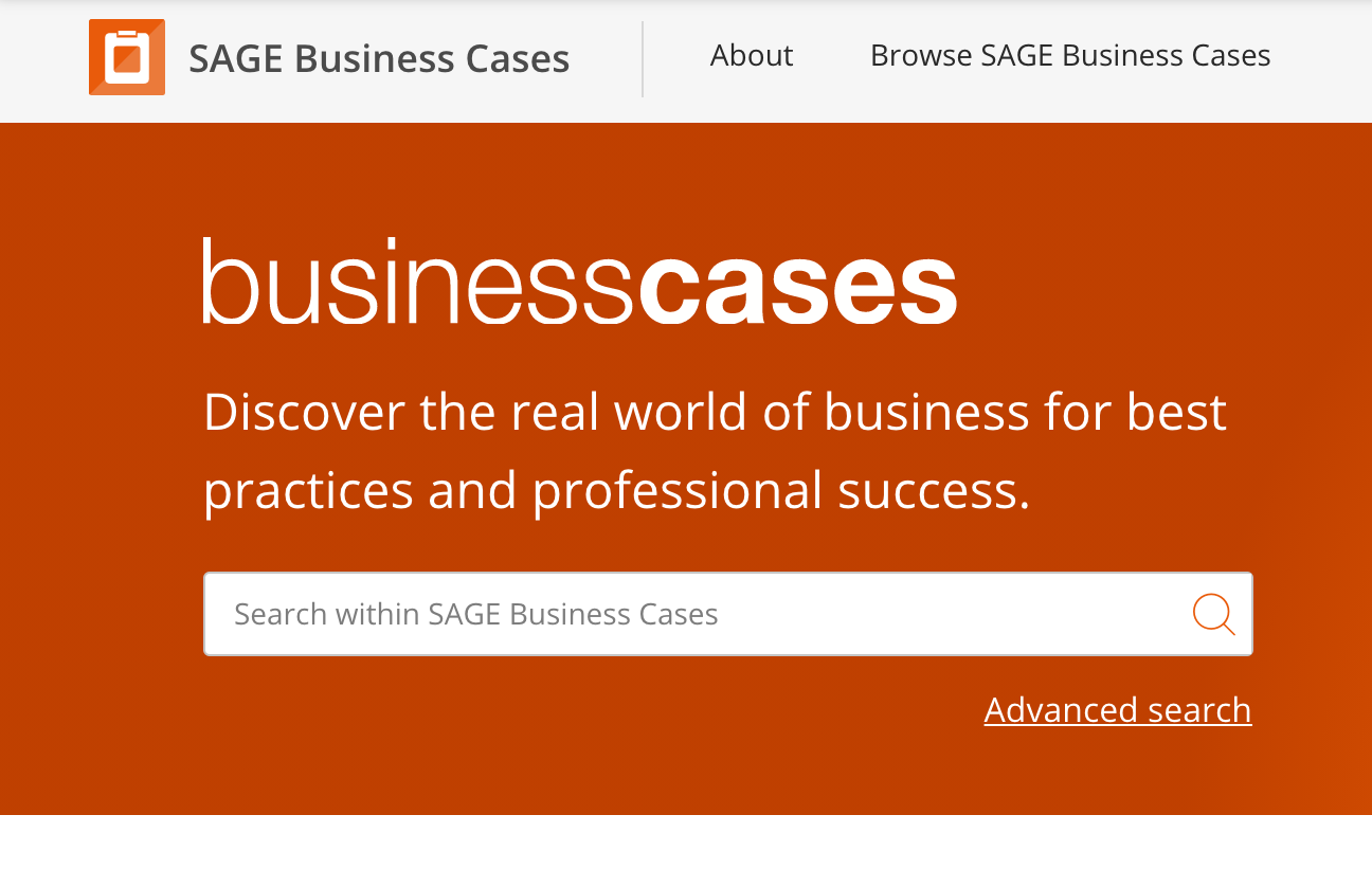 SAGE Business Cases image