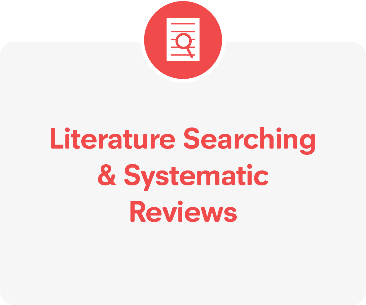 Literature searching guidance