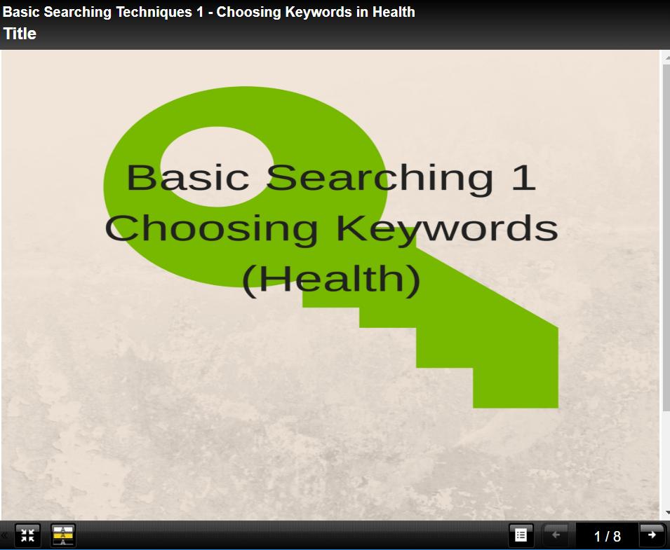 Keywords tutorial 1