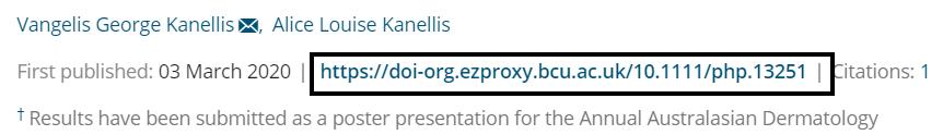 DOI URL