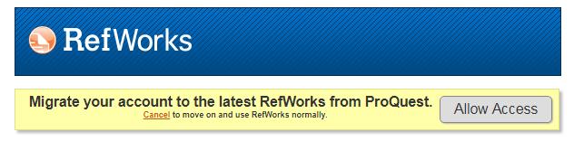 Permitir acceso a RefWorks Legacy