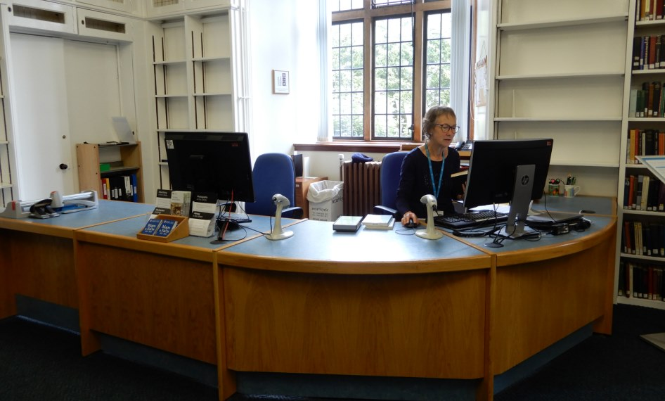 Service Desk at St Mary's Library