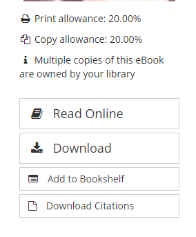 Picture of print and copy allowances
