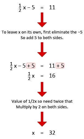 Solving simple equations example 3.