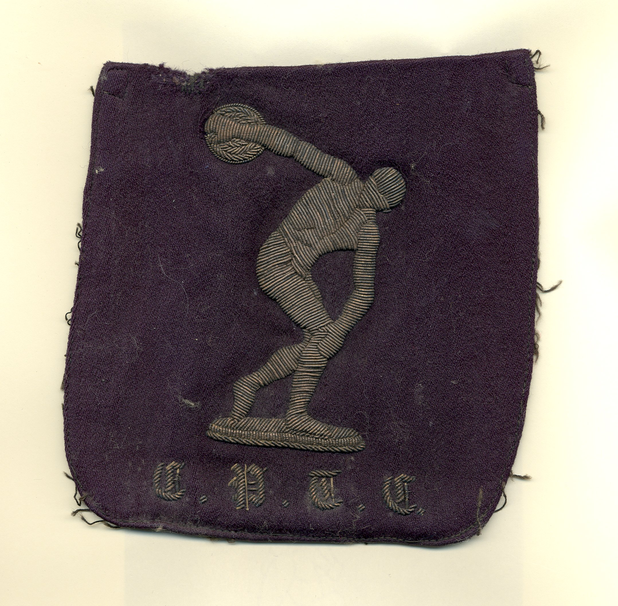 Discobolus of Myron cloth blazer badge
