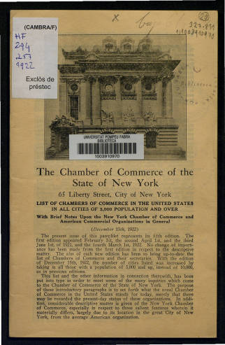 List of chambers of commerce in the United States
