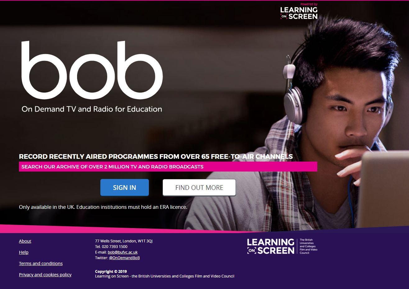 BoB (Box of Broadcasts) image