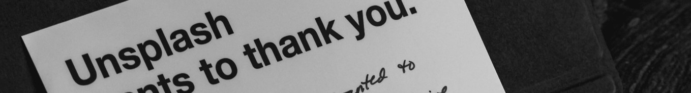 An image of a thank you card.