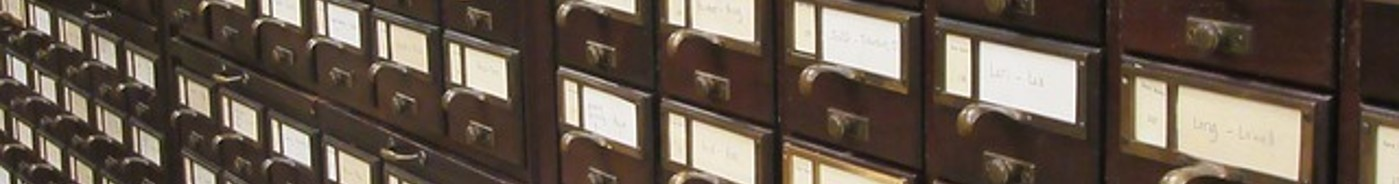 An image of a card catalogue cabinet.