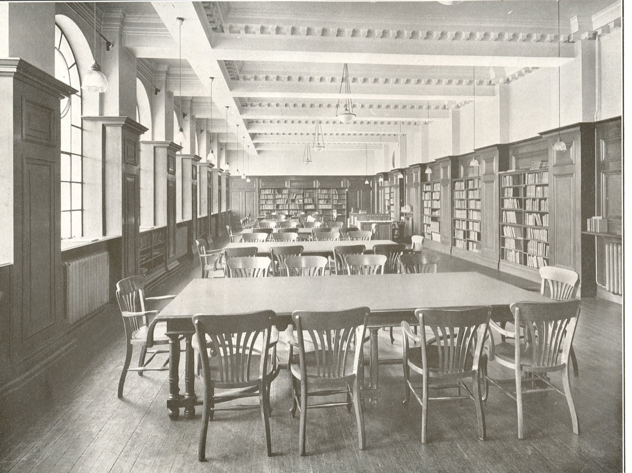 The Library in the Education Block around 1912