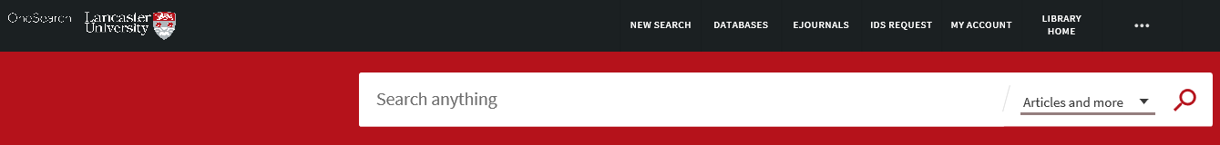 Screenshot of the OneSearch search bar