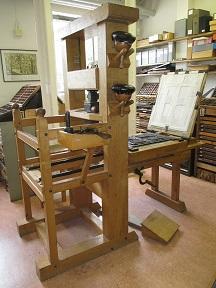 Printing presses at the University Library