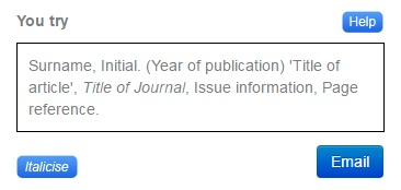 Ist screenshot is Cite The Right template for creating a reference citation