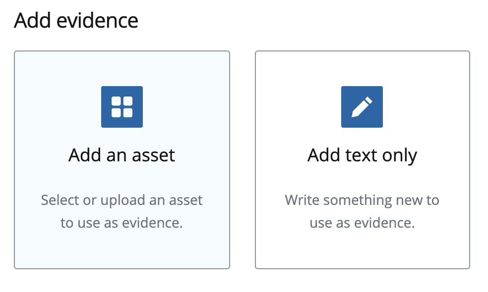 the '+ Add an asset' button