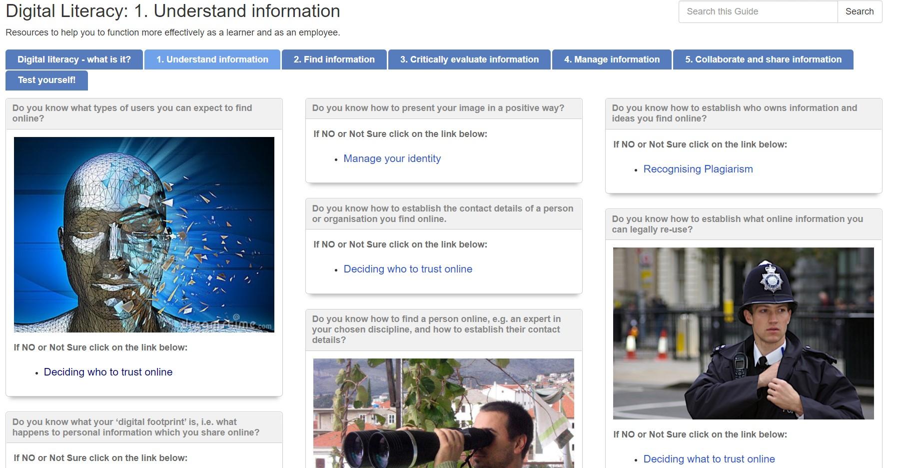 Link to Digital Literacies guide