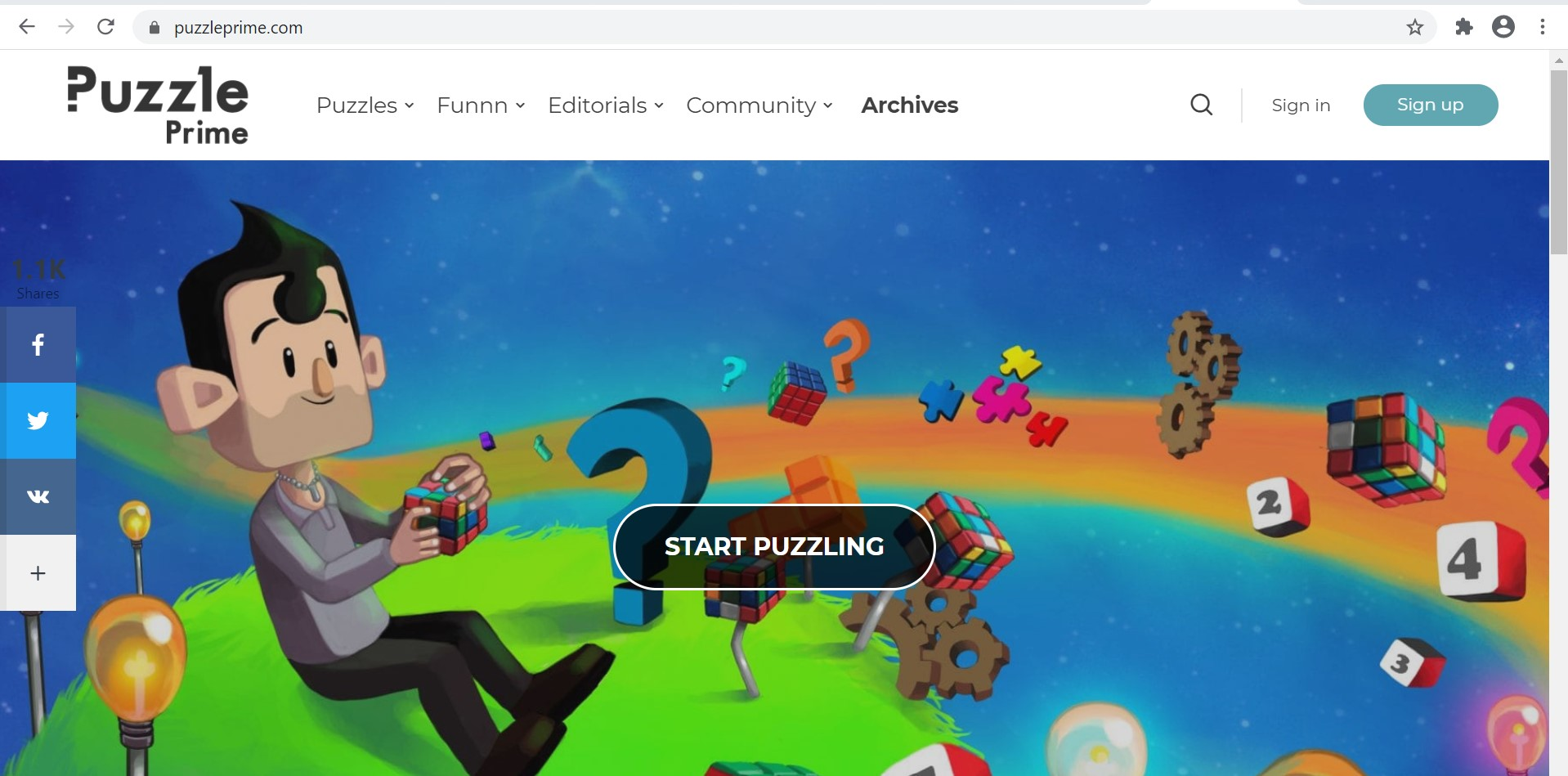 Image and link to Puzzle Prime Home page