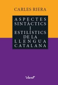 Coberta del llibre Aspectes sintàctics i estilístics de la llengua catalana