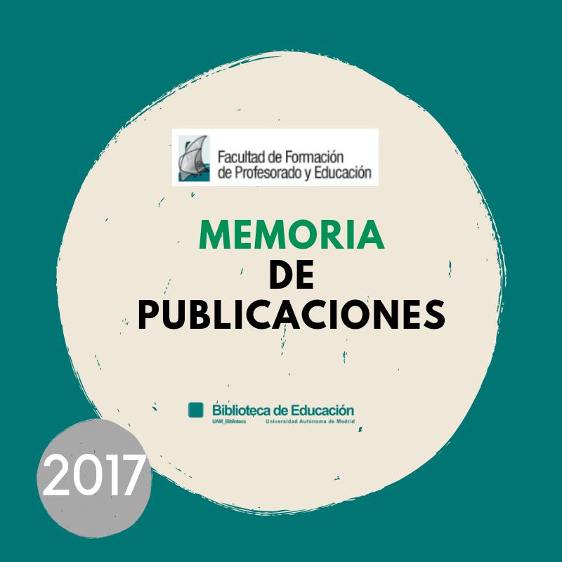 memoria de publicaciones 2017
