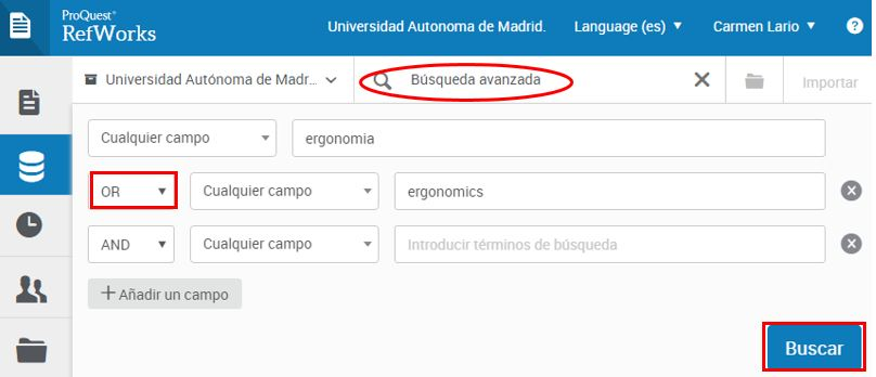 Buscar referencias UAM