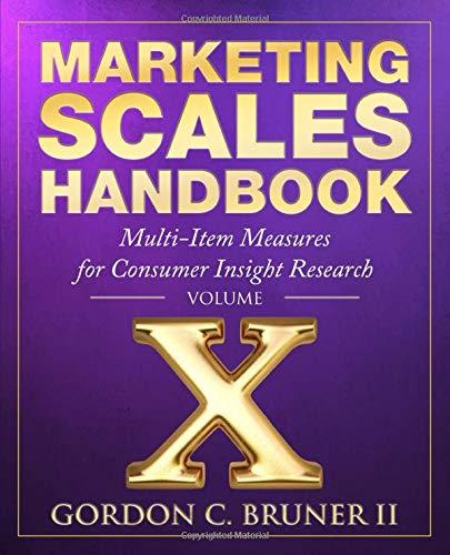 Cubierta del libro Marketing Scales Handbook