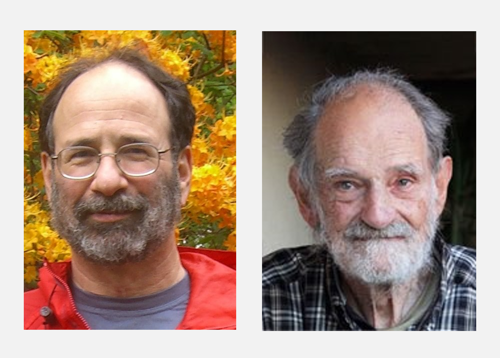 Fotografía de los Nobel de Economía 2012 Alvin E. Roth y Lloyd S. Shapley