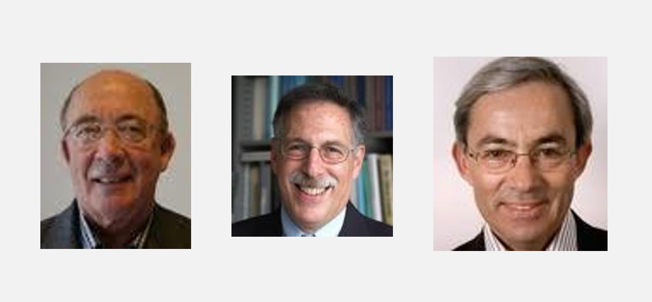 Fotografías de Diamond, Mortensen y Pissarides. Premio Nobel Economía 2010