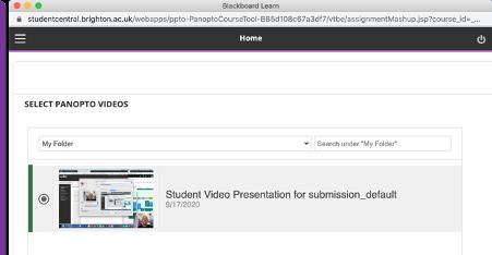 screenshot of panopto videos