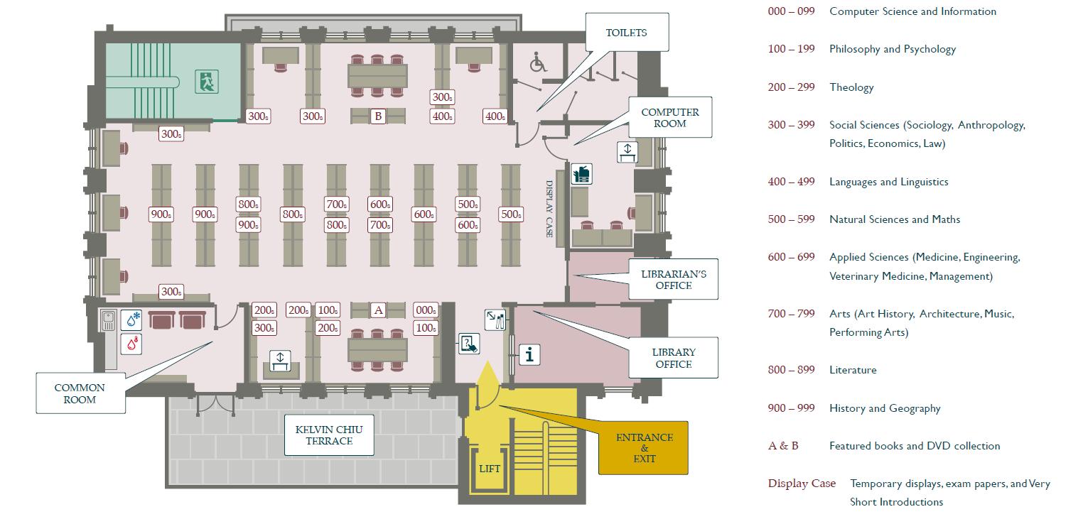 Bartlam Library first floor floorplan