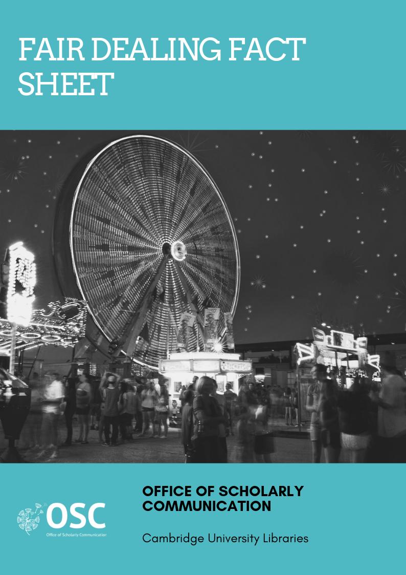 Fair Dealing Fact Sheet cover