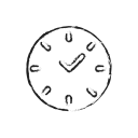 Clock face icon