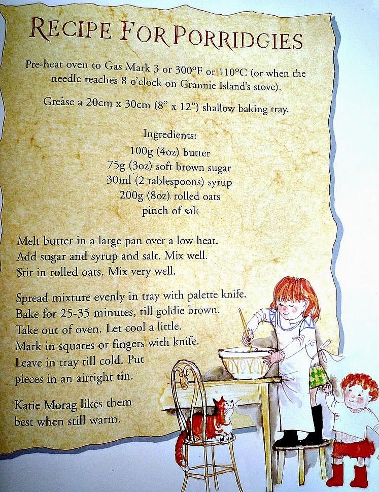 Page form Big Katie Morag cookbook - a recipe for porridge