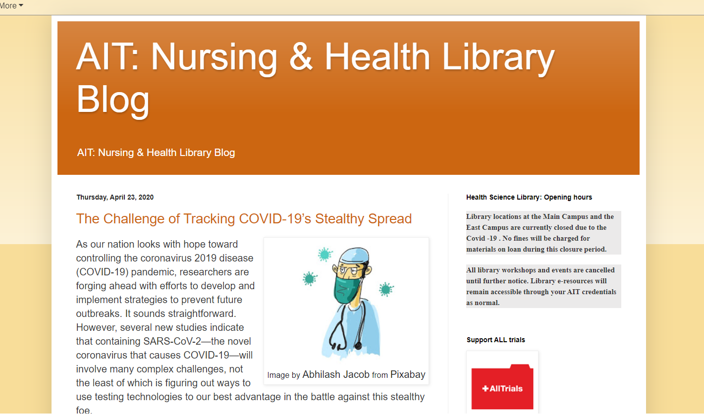 AIT Library Nursing & Health Blog