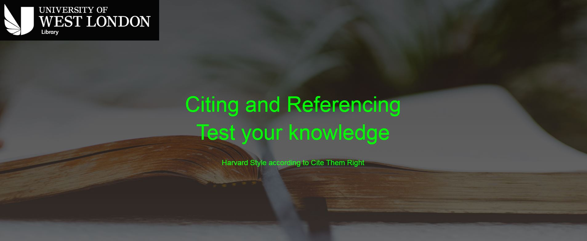 Citing and Referencing. Test your knowledge