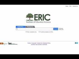 Screenshot of the search page on ERIC