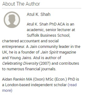 "A screenshot of the ""About the Author"" page for Atul K. Shah."