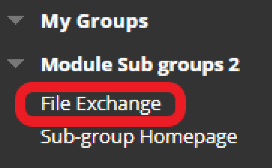 image that highlight file exchange in the module menu listed under Sub Groups