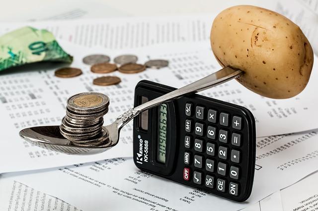 Mobiltelefon sked potatis mynt