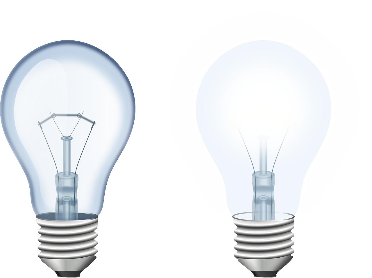 2 lightbulbs