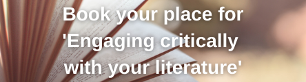 Engaging critically with your literature course button