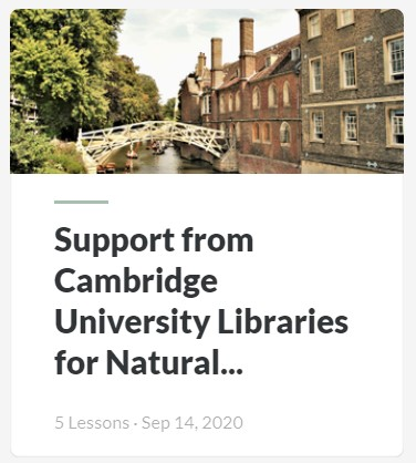 Support from Cambridge University Libraries for Natural Sciences resource
