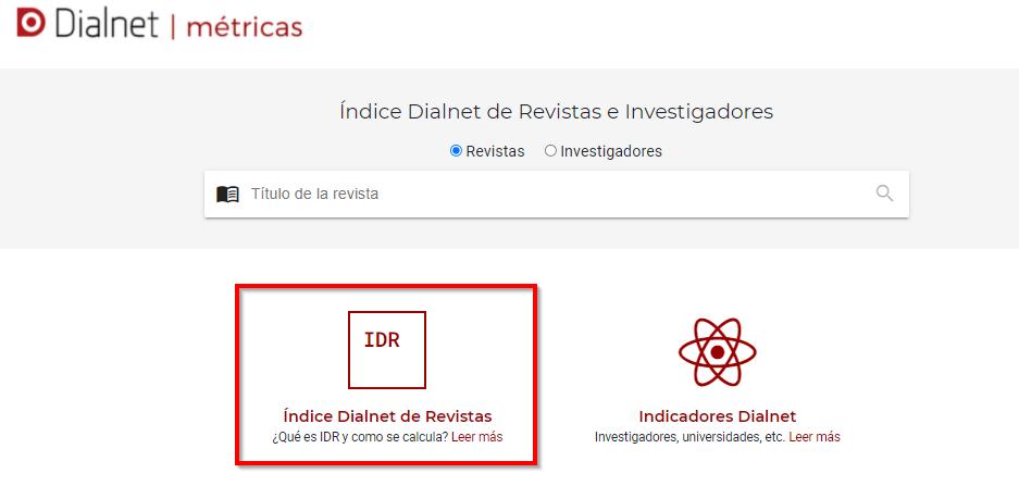 Dialnet métricas _ IDR