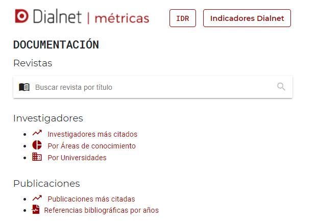Dialnet métricas _ indicadores Dialnet detallado