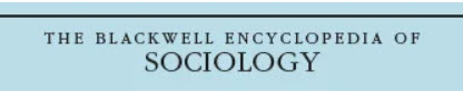 Blackwell encyclopedia of sociology logo