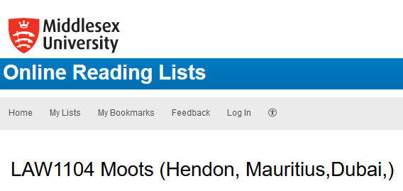 Moots reading list