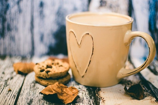 mug and biscuits