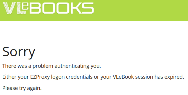 VLeBooks error message