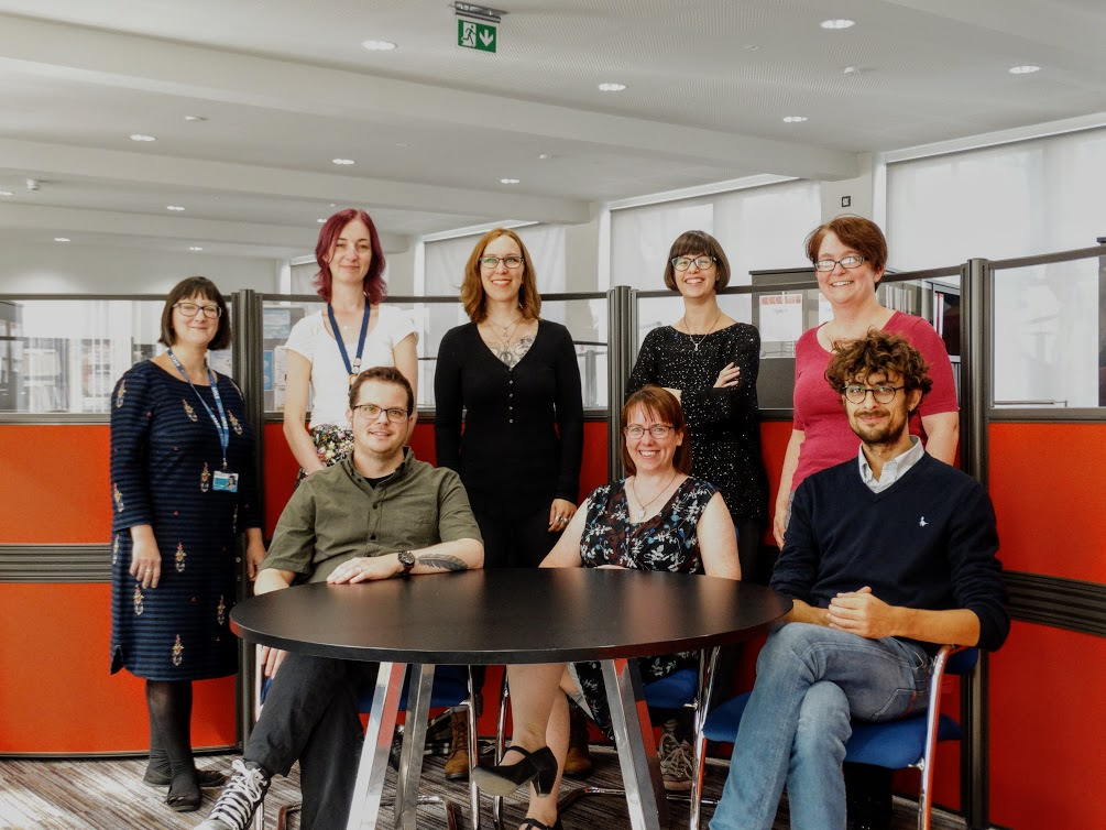 Image: the Engineering library team