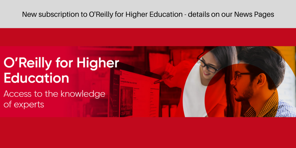 O'Reilly for Higher Education subscription
