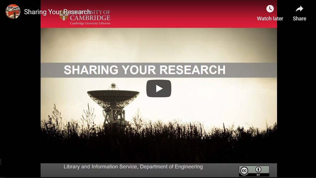 sharing your research video